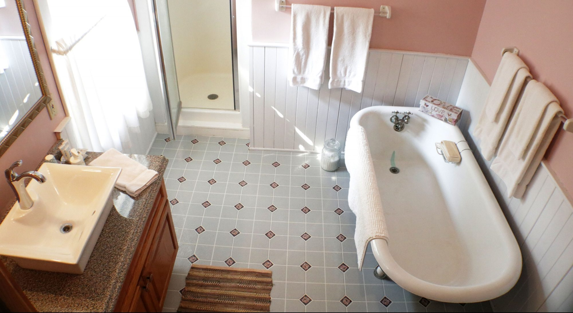 Prince room delux double twin priate bath tub shower